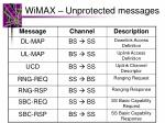 wimax unprotected messages