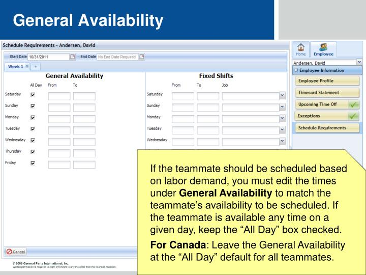 General Availability