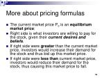 more about pricing formulas