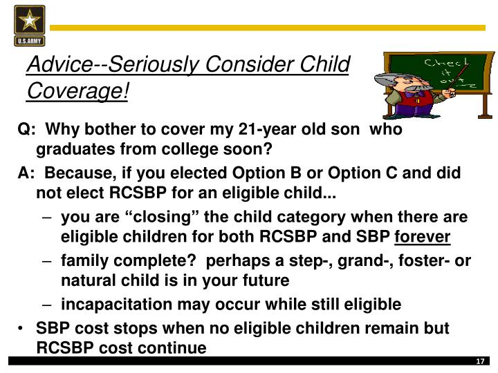 Advice--Seriously Consider Child Coverage!