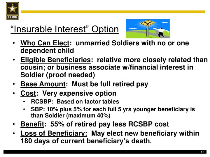 """Insurable Interest"" Option"
