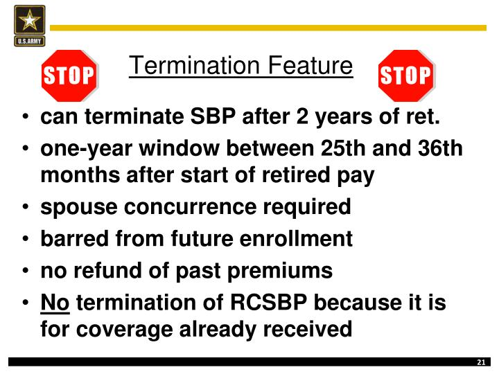 Termination Feature