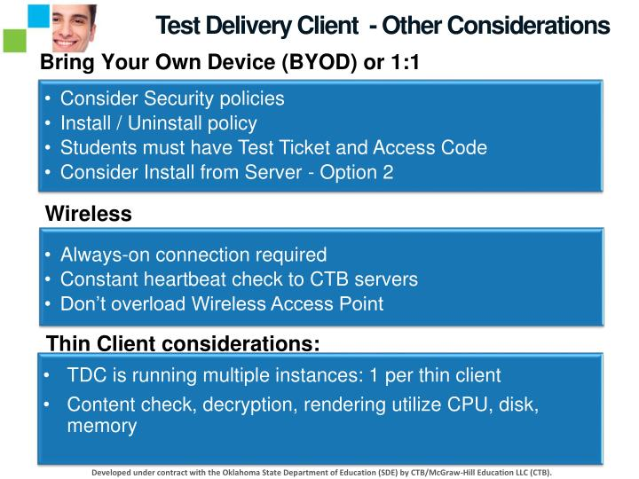 Test Delivery Client  - Other Considerations