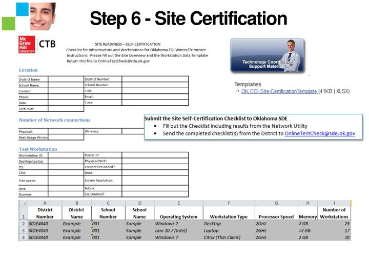 Step 6 - Site Certification