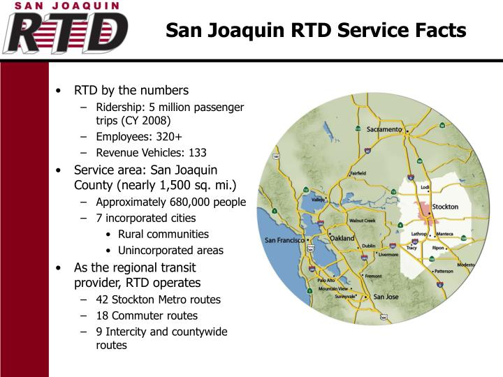 San joaquin rtd service facts