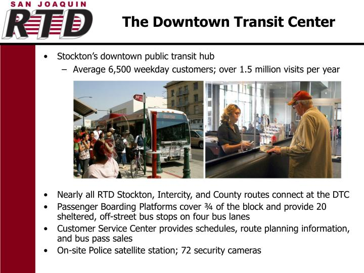 Stockton's downtown public transit hub