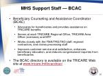 mhs support staff bcac