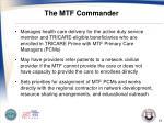 the mtf commander