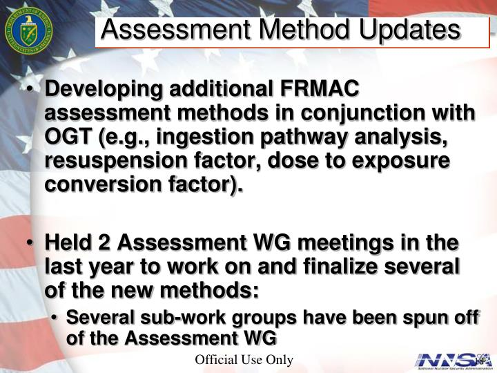 Assessment Method Updates