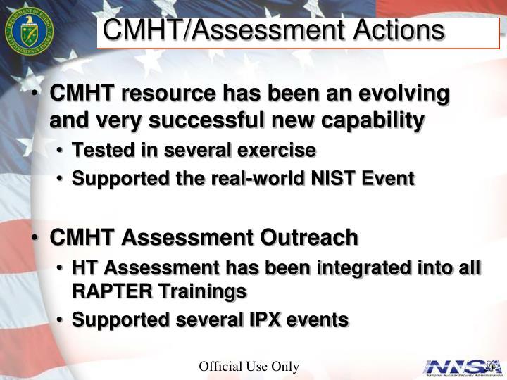 CMHT/Assessment Actions