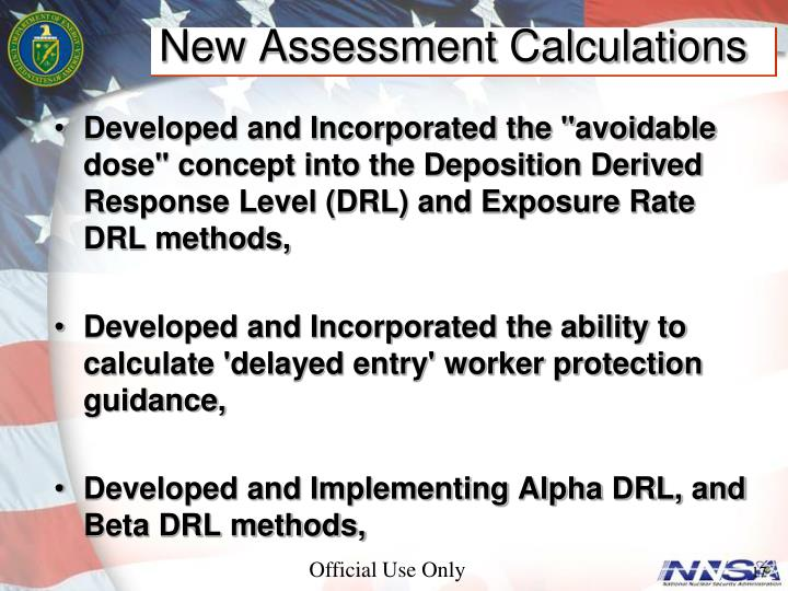 New Assessment Calculations