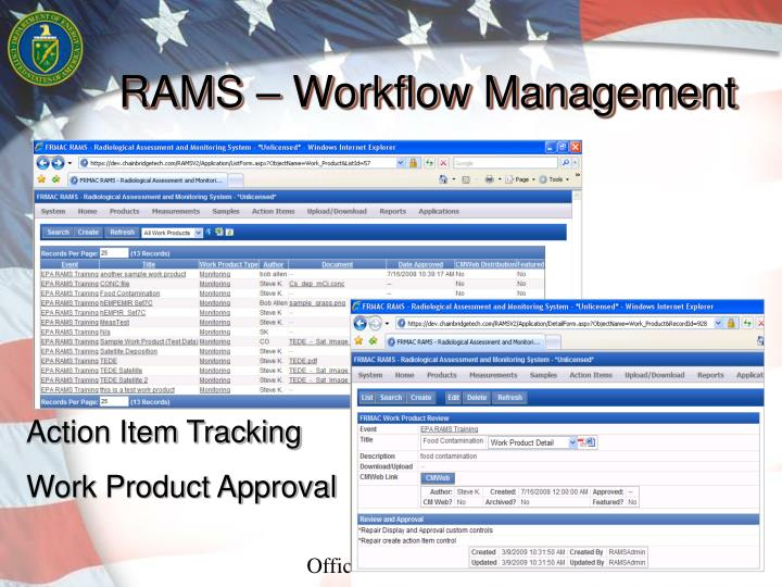 RAMS – Workflow Management