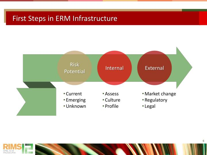 First Steps in ERM Infrastructure