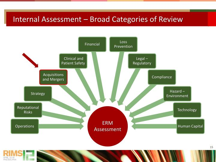 Internal Assessment – Broad Categories of Review