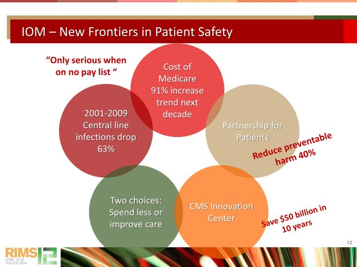 IOM – New Frontiers in Patient Safety