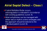 atrial septal defect class i1