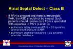 atrial septal defect class iii