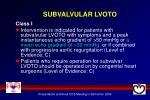 subvalvular lvoto