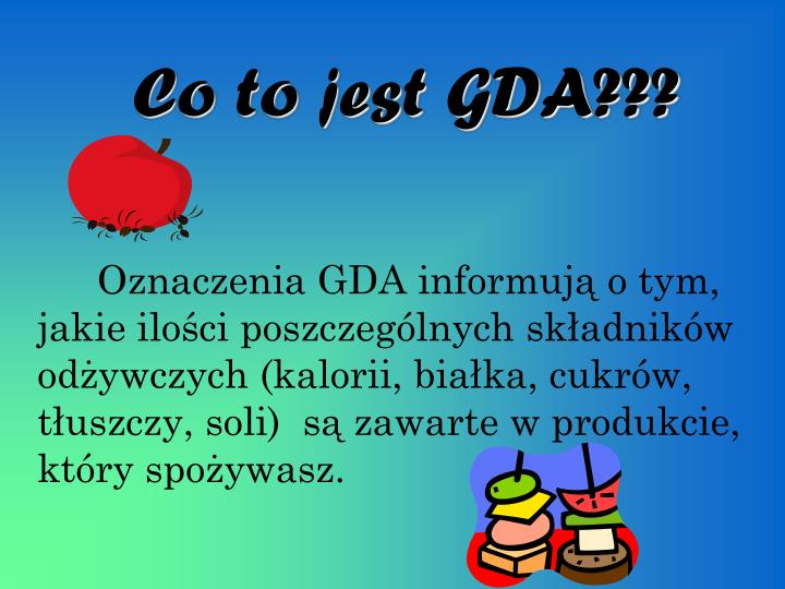 Co to jest GDA???