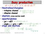 susy production