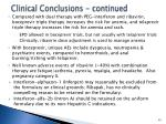 clinical conclusions continued
