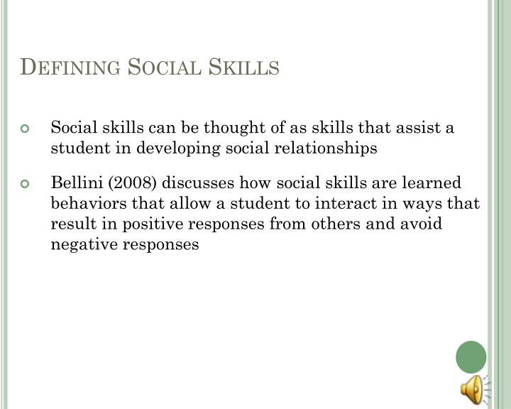Defining social skills
