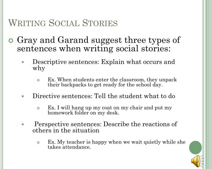 Writing Social Stories