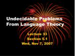 undecidable problems from language theory