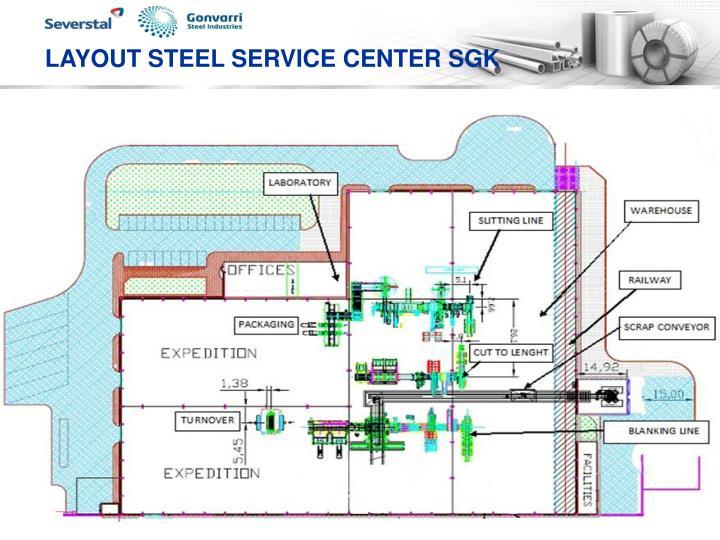LAYOUT STEEL SERVICE CENTER SGK