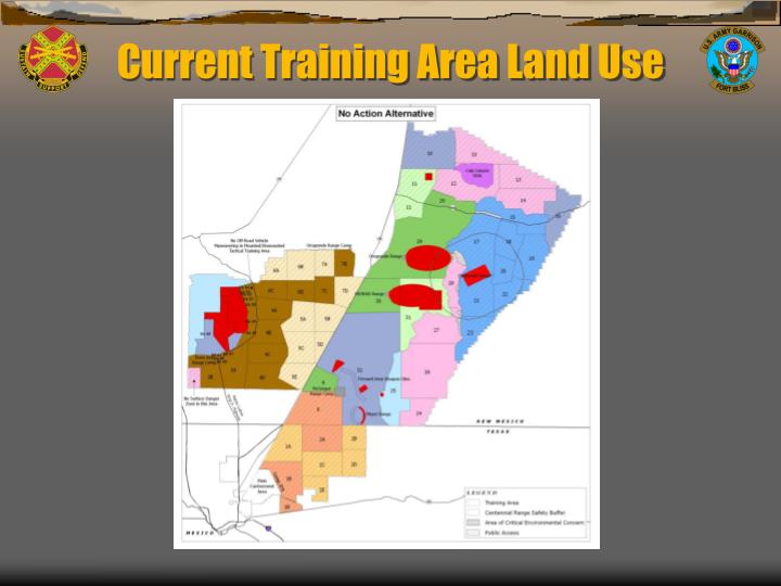Current Training Area Land Use