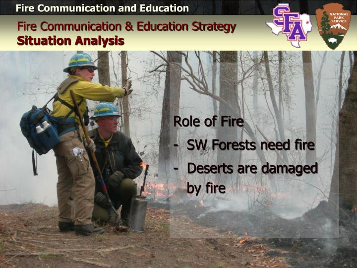Fire communication education strategy situation analysis