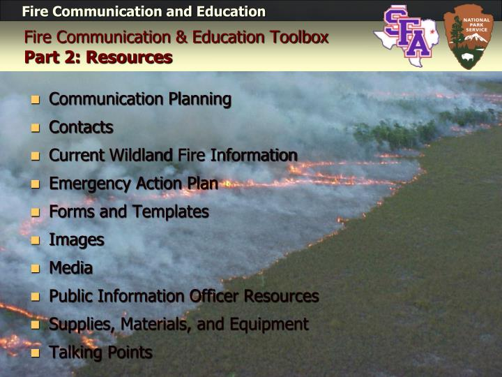 Fire Communication & Education Toolbox