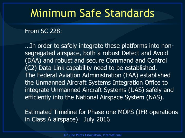 Minimum Safe Standards
