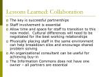 lessons learned collaboration