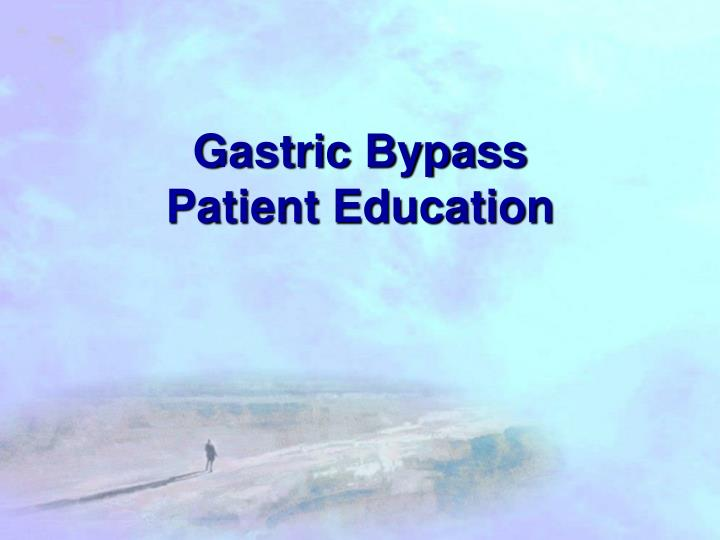 gastric bypass patient education n.