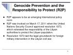 genocide prevention and the responsibility to protect r2p2