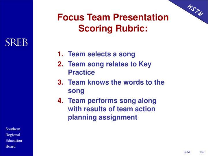 Focus Team Presentation