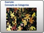 example concepts as categories1