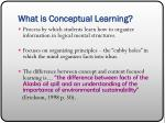what is conceptual learning