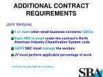 additional contract requirements2