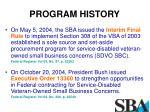 program history1
