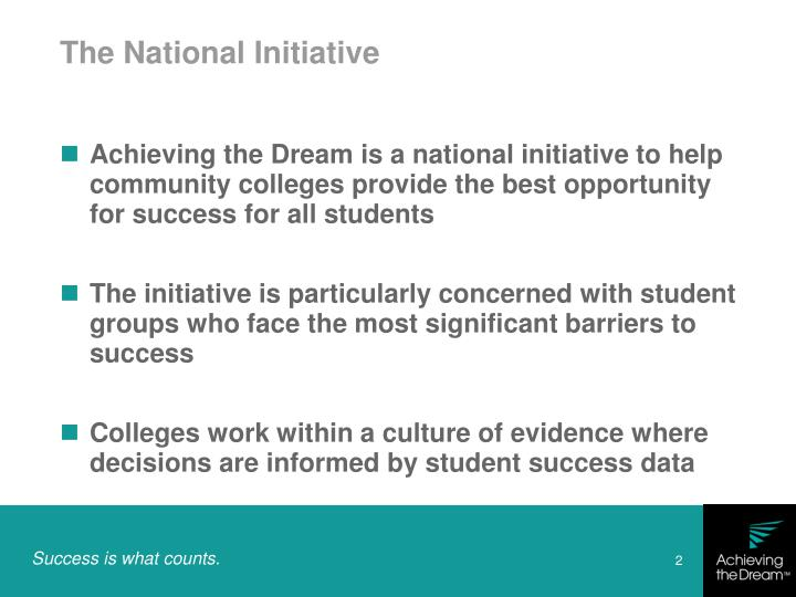 The national initiative
