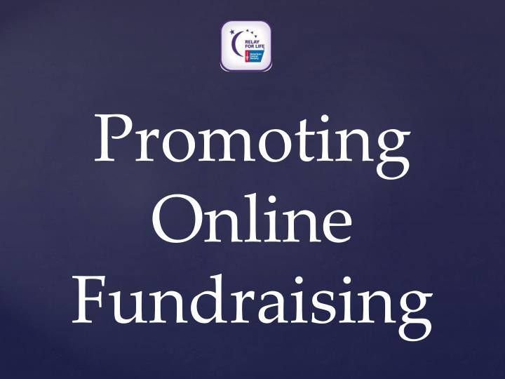 Promoting Online Fundraising