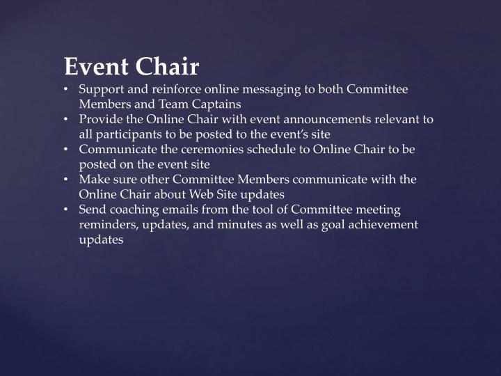 Event Chair