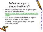 ncaa are you a student athlete