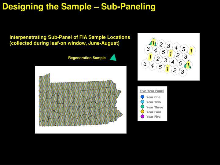 Designing the Sample – Sub-Paneling