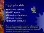 digging for data