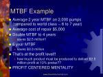 mtbf example