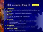 tdc a closer look at
