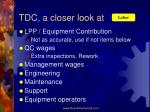 tdc a closer look at1